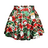 Mullsan Womens fashion Christmas Santa Xmas Print Mini Tutu Skirt (WZ-1)
