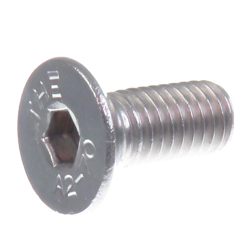 SECCARO Tornillo avellanado M5 x 12 mm, acero inoxidable V2A VA A2, DIN 7991 / ISO 10642, hexá gono interior, 20 piezas hexágono interior ecomserv