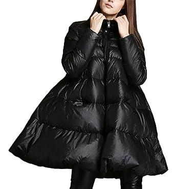 ca3fb2751e453b ... Beiläufig Elegant Hoodied Trenchcoat Frühling Steppmantel Mantel Coat  Zieher Outwear Lose A-Linie Daunenjacke Wattierte Jacke Daunenmantel Schwarz:  ...