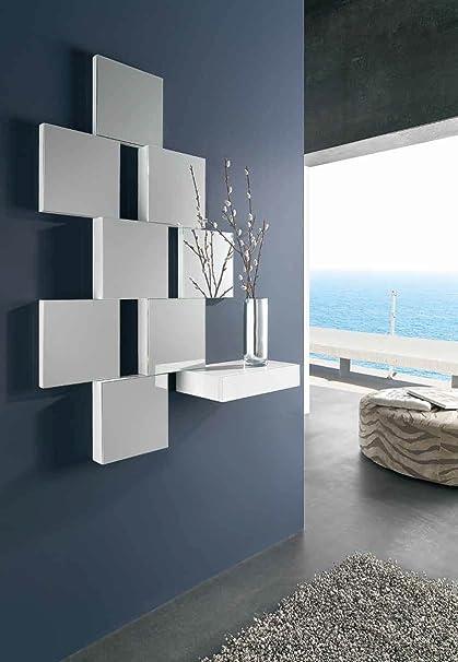 ch design recibidores modernos con espejo mural juliette blanco