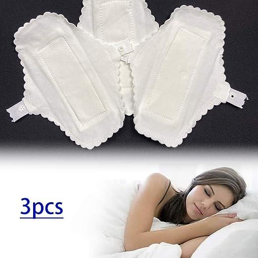 NEWMAN771Her - Compresas reutilizables para mujer, 3 piezas, almohadillas de algodón finas y reutilizables, pañuelo menstrual, servilletas, lavables e impermeables: Amazon.es: Hogar
