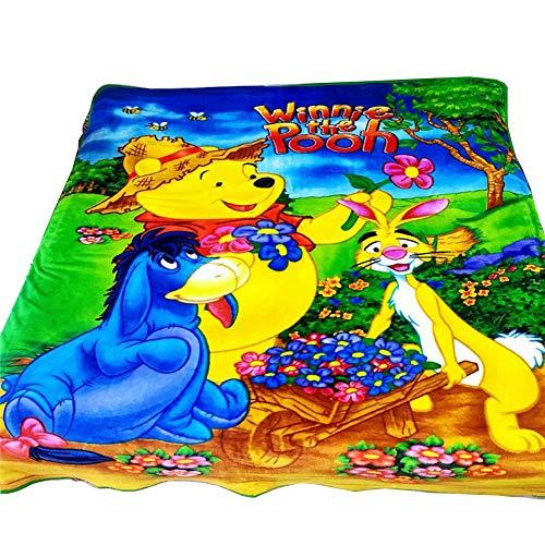 (HOLY HOME Farm, Winnie The Pooh,Flannel Fleece Blanket Throw 60
