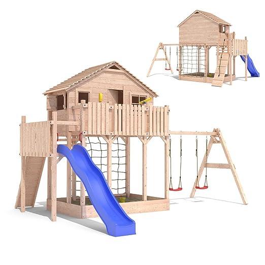 Hervorragend Spielturm Baumhaus Stelzenhaus Spielhaus Sandkasten + Rutsche +  TP33