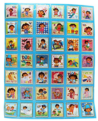 Dora the Explorer and Go Diego Go! Blue Background Sticker Sheet (42 Stickers) ()
