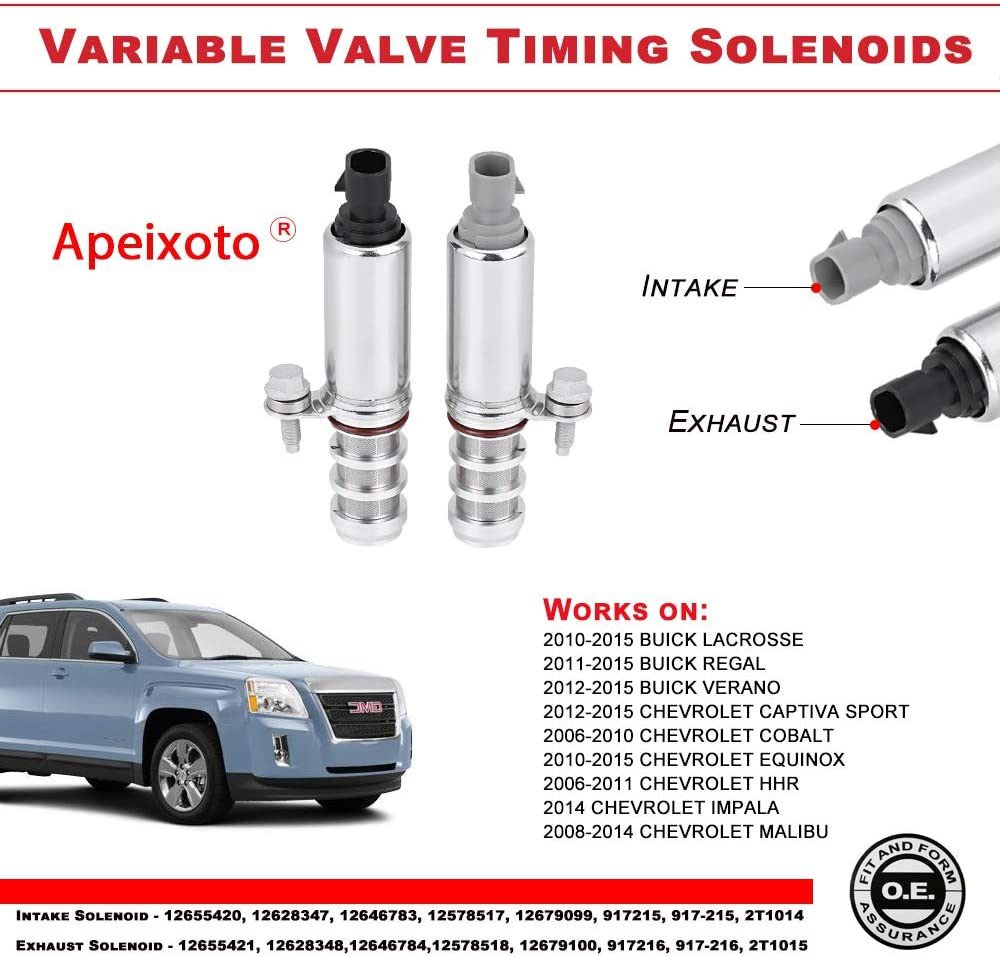For 2014 Chevrolet Equinox l4 2.4 Engine Variable Timing Solenoid