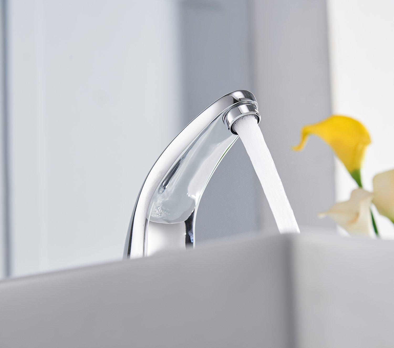 Greenspring Deck Mount Solid Brass Auto Sensor Bathroom Sink Faucet ...