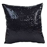 Best Place to Buy Mattress Topper iYBUIA Solid Color Glitter Sequins Throw Pillow Case Cafe Home Decor Cushion Covers
