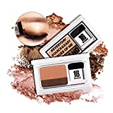 Turelifes Lazy Eyeshadow Stamp 16 brand Holiday Edition Everyday Magazine eye shadow with Double Colors Glitter Gradient Eye Shadow Palette Long Lasting (Double brown)