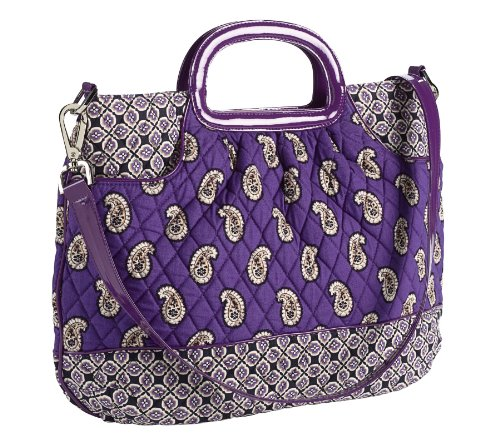 (Vera Bradley Patchwork Collection Charleston Tote Bag in Simply Violet)
