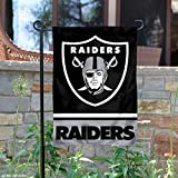 Oakland Raiders Double Sided Garden Flag