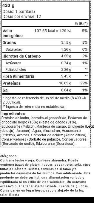 Prozis Diet Bar 12x35g - Delicioso Aperitivo Masa para Galletas con Trozos de Chocolate - Rico en Proteína y Bajo en Hidratos de Carbono y Azúcares - Libre ...