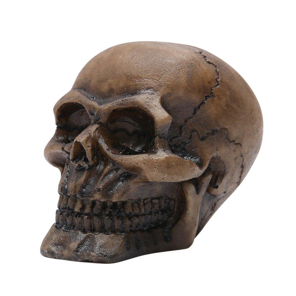 Ahomi resina Skull scultura statua Skeleton Model ornamenti per acquario acqua erba paesaggistica Decor