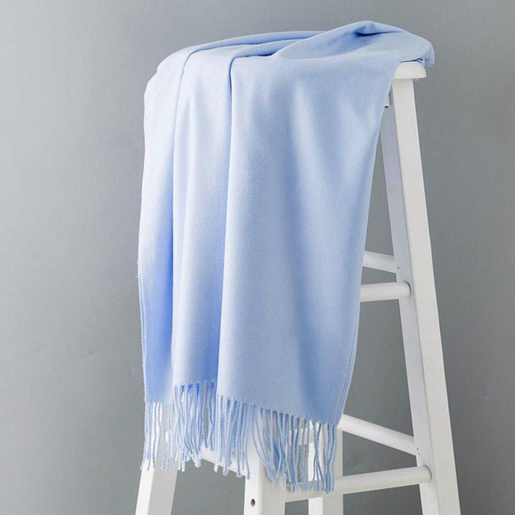 Longless Bufandas mujer invierno sección larga de color sólido de la primavera y el otoño Mantón gra...
