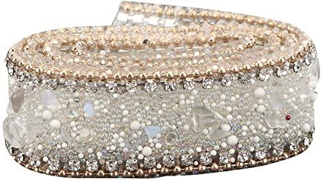 Bling Crystal Rhinestone Chain Trim Ribbon Craft À faire soi-même wedding decor sewing D l5l6