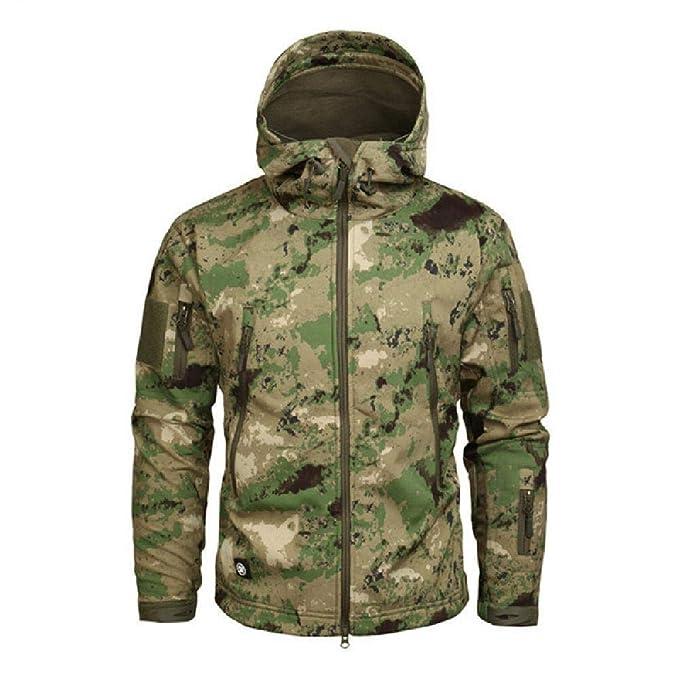 Amazon.com: Autumn - Chaqueta de forro polar militar para ...