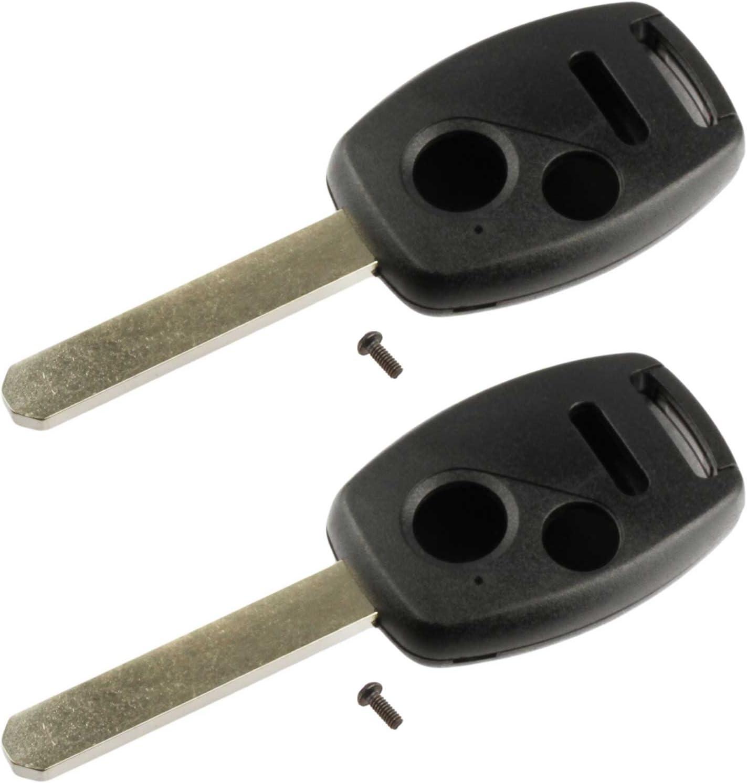 2005-2006 CR-V Key Fob Keyless Entry Remote Shell Case /& Pad fits Honda 2003-2007 Accord Set of 2