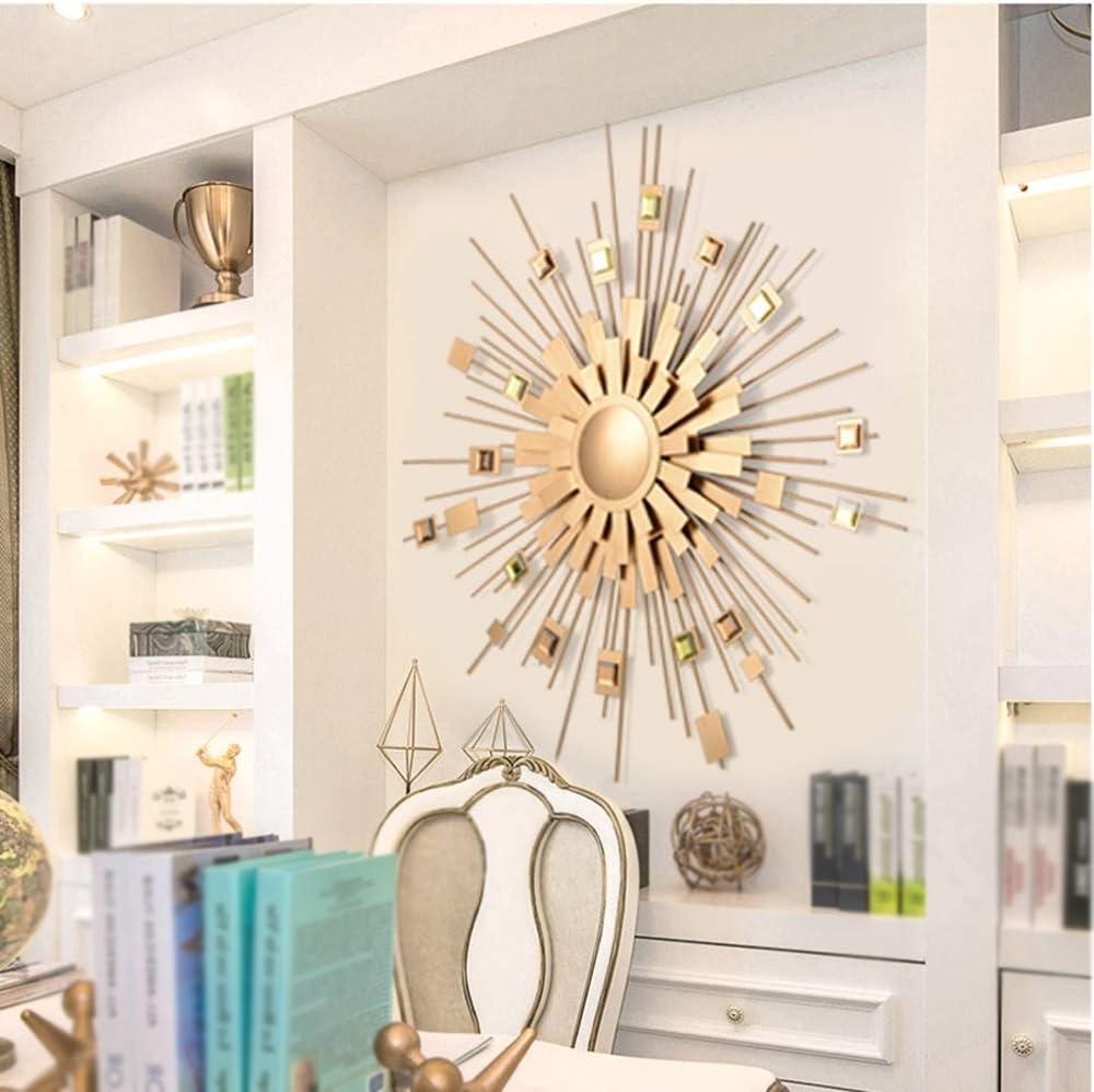 XM-MIRROR Espejo Decorativo de Pared Starburst, Espejo de Pared estéreo de Piedra Preciosa acrílica Sunburst, Comedor, Sala de Estar, Espejo Colgante de Pasillo,B,88cm