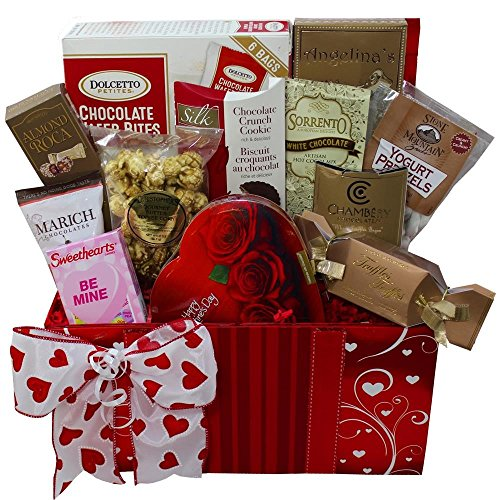 Art of Appreciation Gift Baskets Sweet Love Valentine's Day Chocolate and Treats Gift Box Set