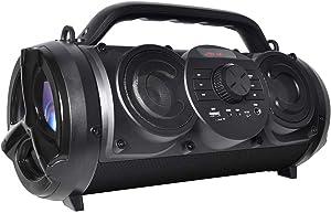 Boytone BT-18BK Portable Bluetooth Boombox Speaker, Indoor/Outdoor, 25W, Loud Sound, Deeper Bass, EQ, 5