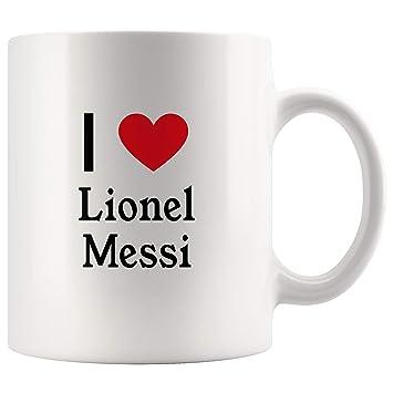 super popular 00c7c 484f6 Amazon.com   I Love Lionel Messi Tea and Coffee Mug: 11oz ...