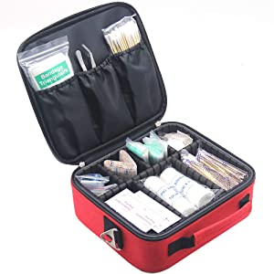 First Aid Kit,Professional Waterproof Premium Nylon First Aid Bag with EVA Separator