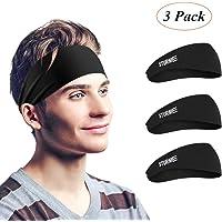 3-Pack Sturme Mens Sweatband & Sports Headbands