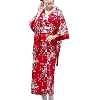Fancy Pumpkin [Sakura] Albornoz Kimono Yukata de Estilo japonés para Cosplay, Rojo: Amazon.es: Ropa y accesorios