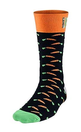Nike Hombre Jordan What s Up para Hombre Calcetines Negro/Brillante Color Naranja/
