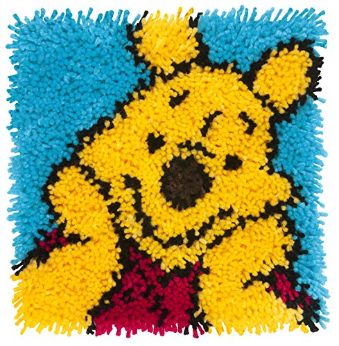 (Dimensions Disney Winnie the Pooh Latch Hook Craft Kit for Kids, 12'' x 12'')