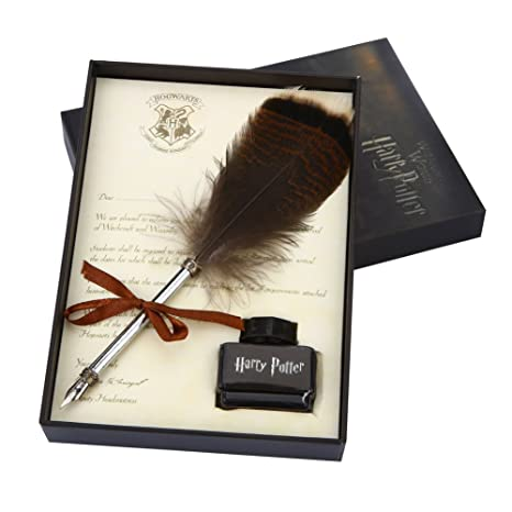 Harry Potter Christmas Gifts.Antique Feather Dip Pen Set Harry Potter Writing Quill Ink Dip Pen Set Best Christmas Gifts