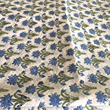 Indian Floral Print Cotton Fabric By Yard Indian Anokhi Design 10 Yards
