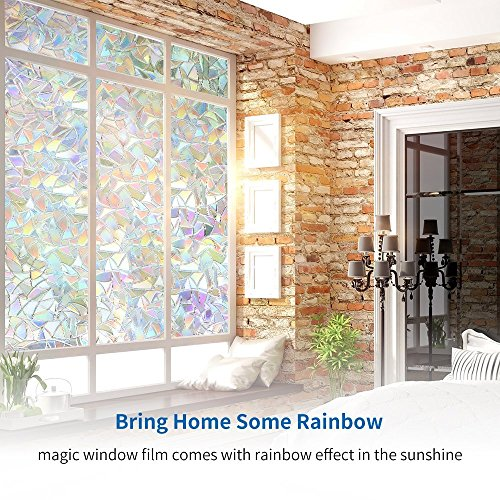 Window treatments rabbitgoo 3d no glue static decorative - Interior window tinting for privacy ...