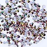 Nizi Jewelry Ss3 Ss4 ss5 ss6 ss8 ss10 ss12 ss16 ss20 ss30 y varios tamaños para decoración de uñas, manualidades, cristales pequeños, Gold Rainbow, ss3-ss10 Mixed 1680pcs, 1