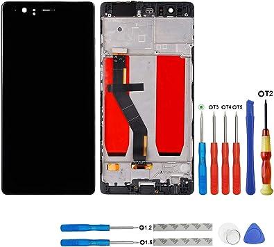 SWARK AMOLED Display Compatible con Huawei P9 Plus Display LCD Pantalla tactil (Marco) + Herramientas (Negro): Amazon.es: Electrónica