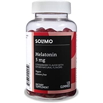 #14 Amazon Brand - Solimo Melatonin 5mg, 120 Gummies (2 Gummies per Serving)