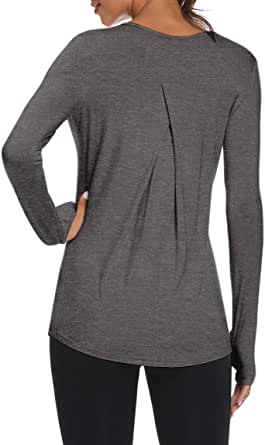 Mippo Long Sleeve Workout Shirts for Women Yoga Tops Athletic Gym Sports Shirts
