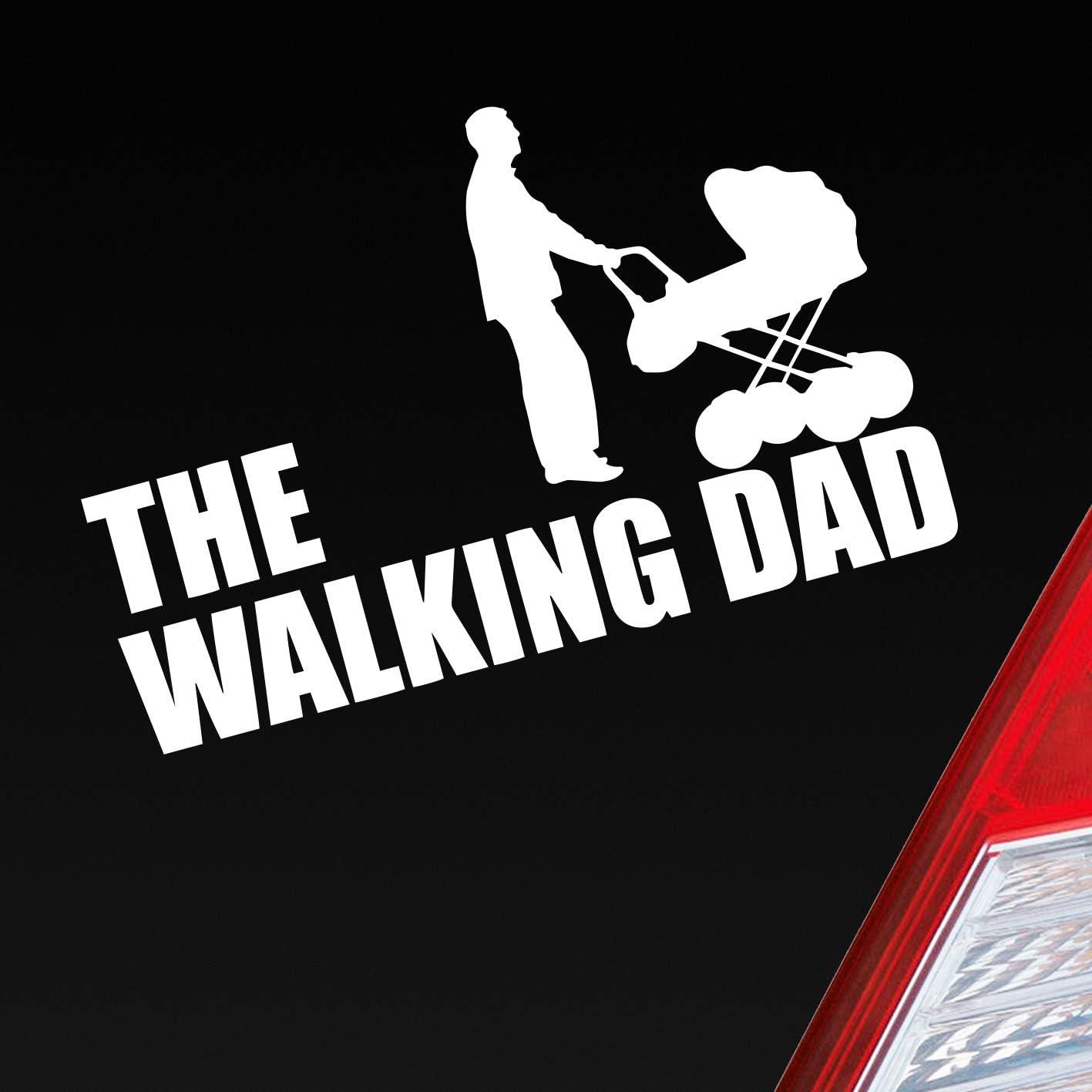 Auto Aufkleber In Deiner Wunschfarbe The Walking Dad Zombie Sticker Daddy Dead Rick Glenn 15x10 Cm Autoaufkleber Sticker Auto