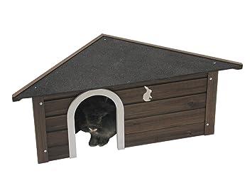 Nobby de madera esquina Casa para conejo/Guinea Pig/Ferret, 83,5 x 43,5 x 31,5 cm, color marrón: Amazon.es: Productos para mascotas