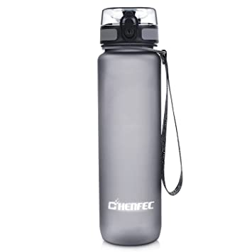 9d5af34e55 ChenFec 1L Water Bottle BPA Free Water Bottles Leak Proof High Quality  Leakproof Slip Sports Outdoor