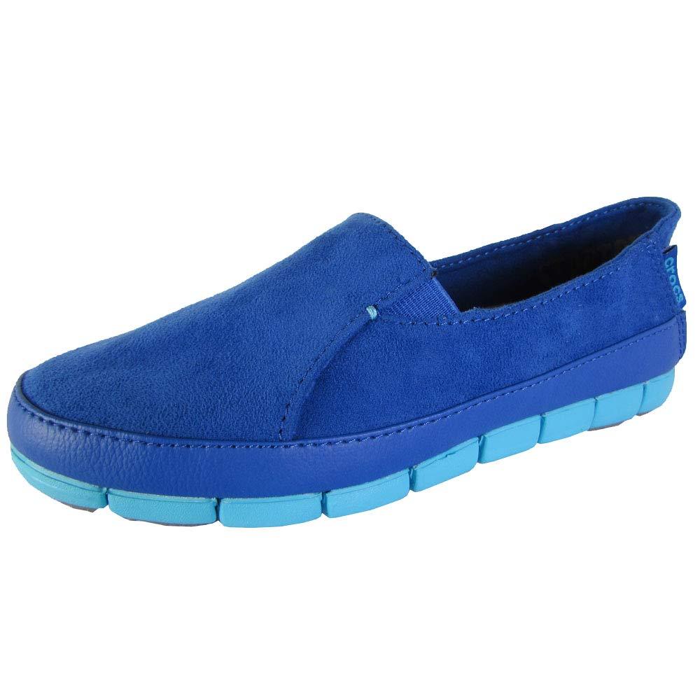 crocs Variation - Mocasines de Terciopelo para Mujer Azul Cerulean Blue and Electric Blue 37/38 EU: Amazon.es: Zapatos y complementos