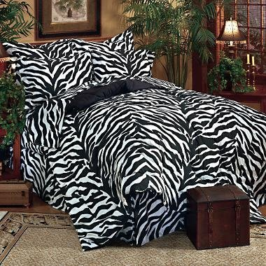 Kimlor Mills Karin Maki Zebra Complete Bed Set, King, Black ()