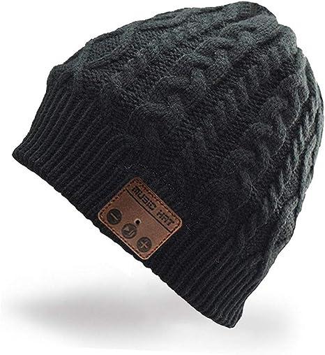 Unisex Warm Beanie Hat Wireless Bluetooth Music Cap Outdoor Headset Headphone