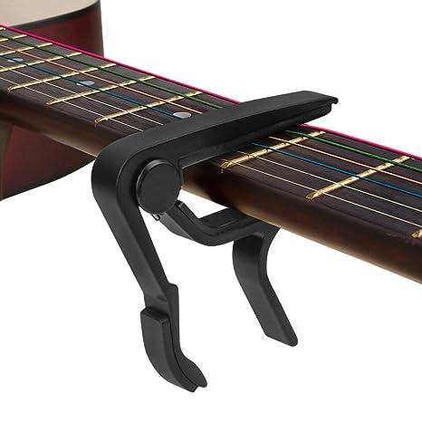 Quick-change cejilla guitarra Capos de metal ligero acolchado para ...