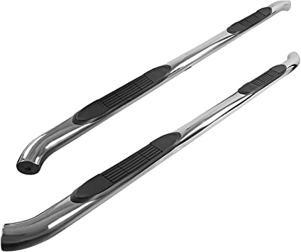 Spec-D Tuning for Ford F150 F250 F350 Regular Cab Chrome S//S Side Step Nerf Bar Running Boards