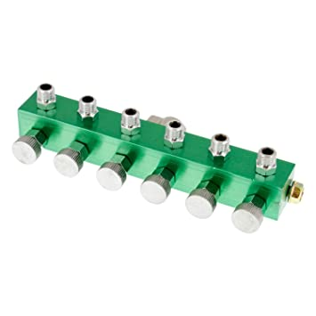 Garden Hose Manifold. 6 Way Air Hose Splitter With Metered Airbrush Manifold  1/4