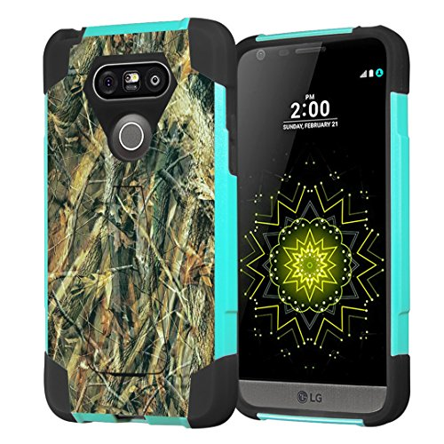 (LG G5 Case, Capsule-Case Hybrid Fusion Dual Layer Shockproof Combat Kickstand Case (Teal Mint Green & Black) for LG G5 - (Hunter))
