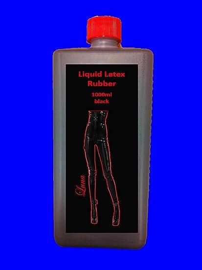 1 Liter de látex de colour negro de goma de látex de la leche de goma