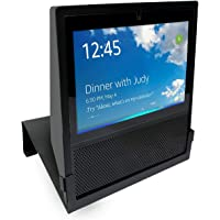 Join2Top Original Stand Holder Wall Mount Bracket Echo Show Home Speaker - (Camera's) Angle Parallel to The Wall Protect Echo Show Charger Cords Organizor, Easy to Install (Black Solid Metal)