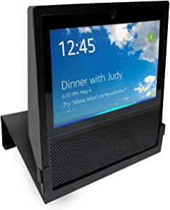 Original Stand Holder Wall Mount Bracket for Echo Show 1st Generation Home Speaker - (Camera's) Angle Parallel to The Wall and Protect Echo Show Charger Cords Organizor (Black Solid Metal)