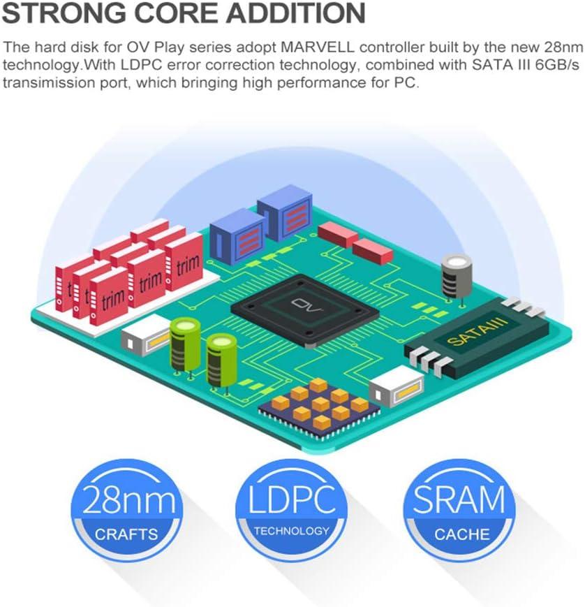 prettDliJUN 2.5inch 60//120//240G SATA3 Interface High-Speed Transmission SSD Solid State Drive for Laptop Desktop 240GB